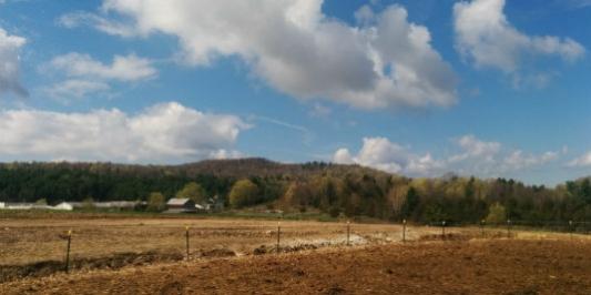 Woodchip Pad on a Vermont Farm