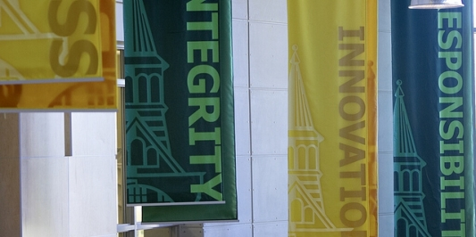 Integrity Banners at the David Center