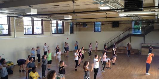 UVM dance workshop with Rennie Harris