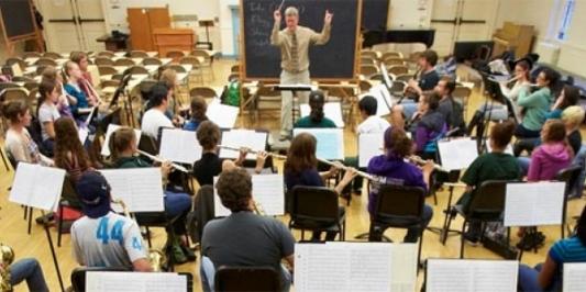 UVM Concert Band rehearsal