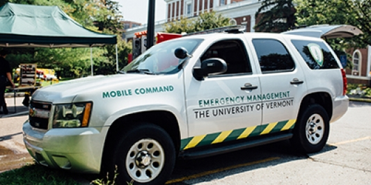 UVM Office of Emergency Management Command Vehicle