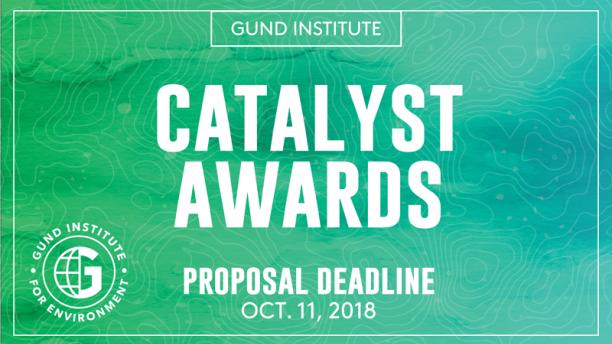 Gund Institute Catalyst Awards Seed Grant Promo