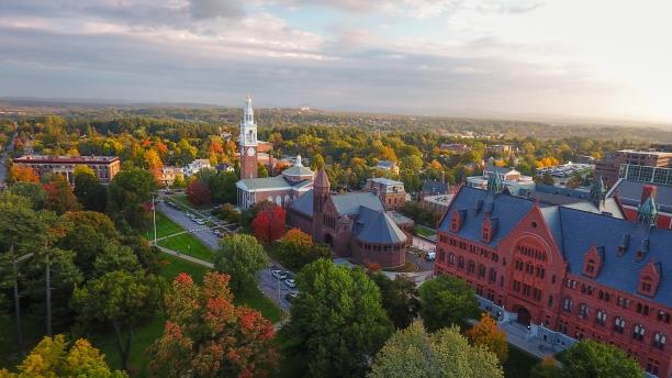 Aerial Shot of UVM Campus