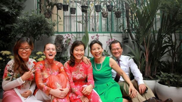 Homestay family in Vietnam