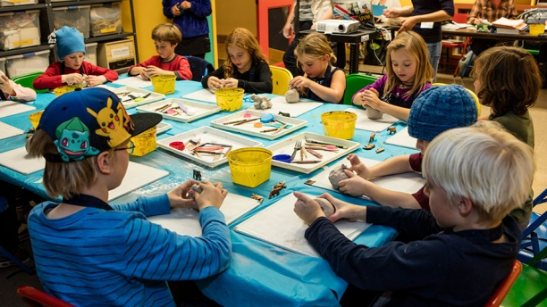 Art workshop at the Fleming Museum of Art