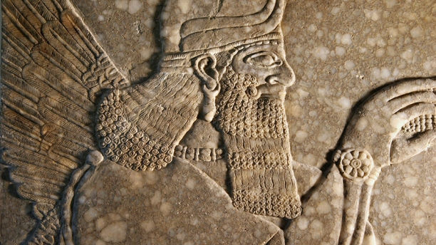 Detail of an Assyrian relief
