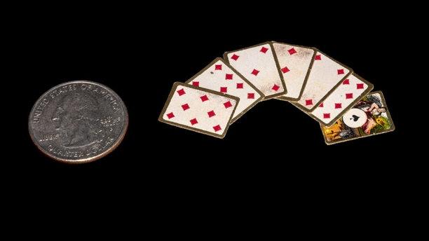Deck of miniature playing cards