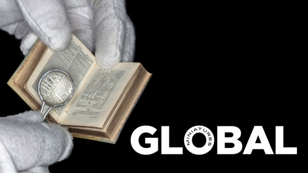 Global Miniatures title image with miniature bible.