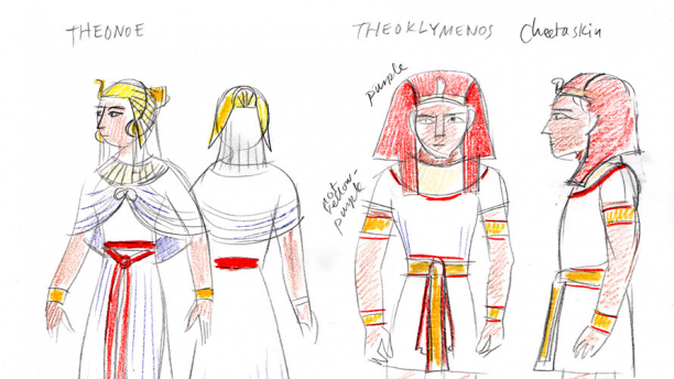 Glynnis Fawkes, Costume Sketch (detail).