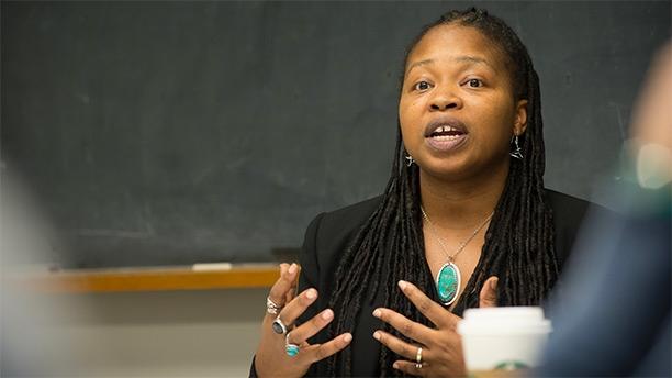 Katrinell Davis teaches Sociology course, Race, Gender and Work.