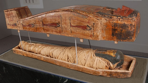 Detail of the egyptian mummy