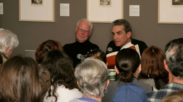 Photo from a presentation by Michael Mazur and Robert Pinsky