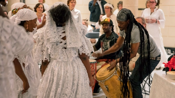 A Vodou Ritual held in the Museum's Marble Court