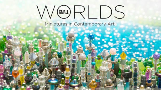 Title image for the exhibition Small Worlds