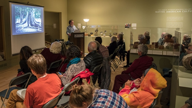 A gallery talk held in the Native American Gallery