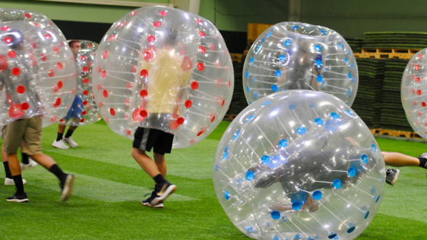 bubble soccer at recfest