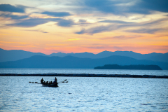 Lake Champlain with rowers