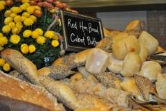 up close of bread at market
