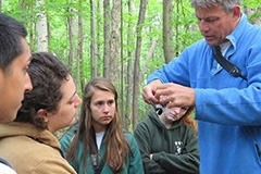 Professor Allan Strong teaches Field Ornithology