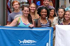 Students with non profit banner