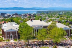 UVM Commencement with a beautiful view