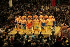 Sumo wrestling tournament in Japan