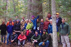 Silviculture class in old growth forest