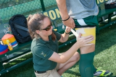 Athletic training student with clinical preceptor at Virtue Field