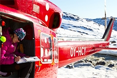 helicopter in Greenland