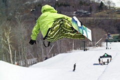Snowboarder. Photo credit: Stowe Resort