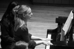 A student plays the piano