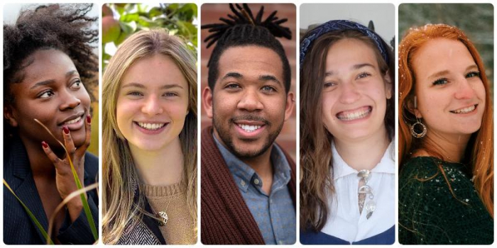 CESS graduates Ama Sika, Megan Faber, JAKE Small, Talia Knutsen, and Rachel Seaver
