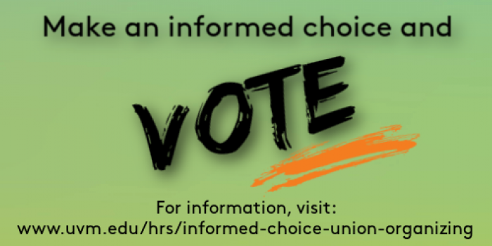 Make an informed choice and VOTE!
