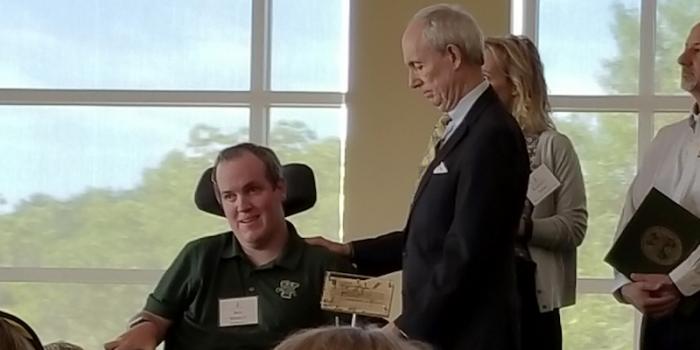 Ben Wimett and President Sullivan