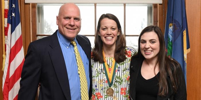 Dan Burack, Bernice Garnett, and Abby Burack
