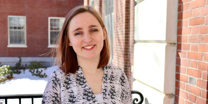 Caitlin Mello, a senior in the Social Work program at UVM