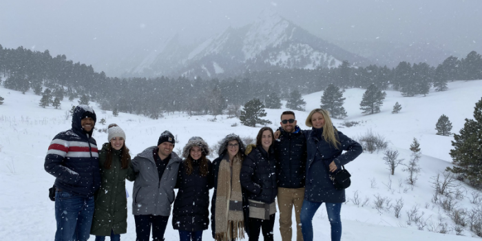 Students visit Colorado for physical therapy conference.