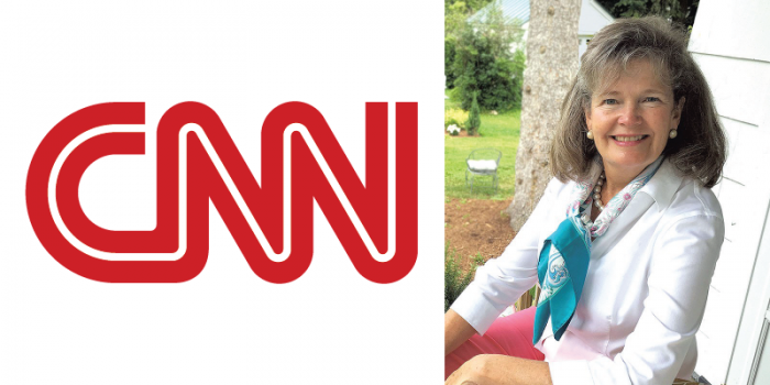 CNN logo and Professor Catherine Donnelly
