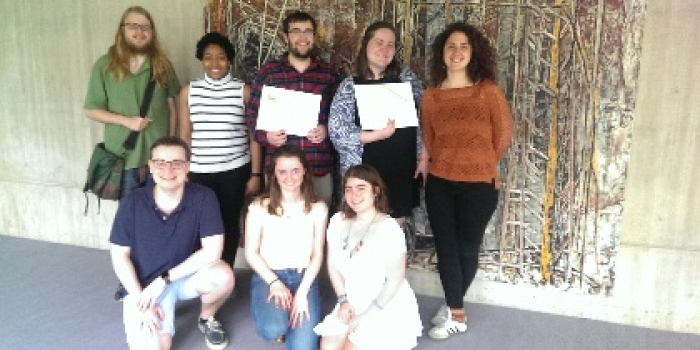 award winners at department barbecue