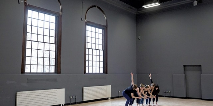 UVM dance students rehearsing in Cohen Hall (Oliver Parini, Seven Days)