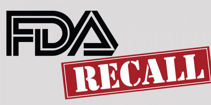 FDA logo and recall stamp