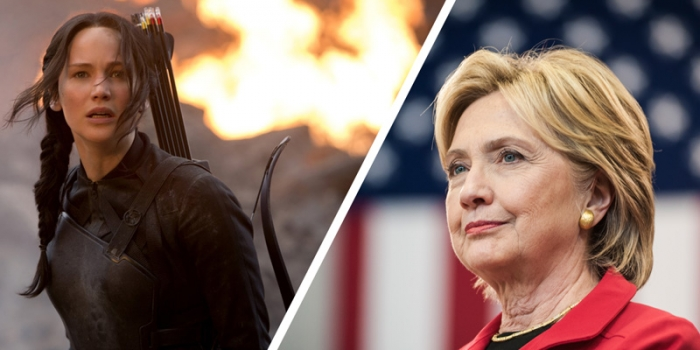 Katniss from Hunger Games and Hillary Clinton
