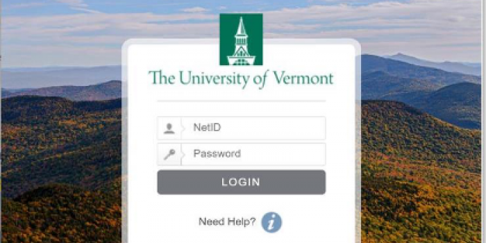 A screenshot of the UVM WebAuth login showing outdated macOS warning.