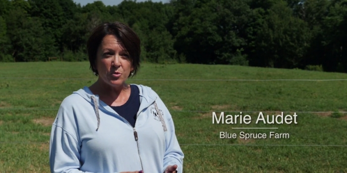 Marie Audet with Blue Spruce Farm