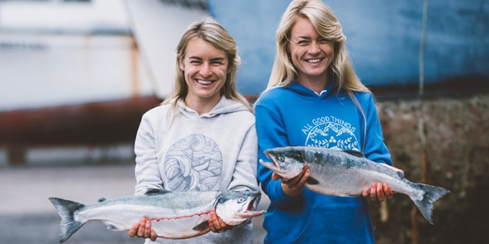 Salmon Sisters Founders Claire Neaton '12 and Emma Teal Laukitis