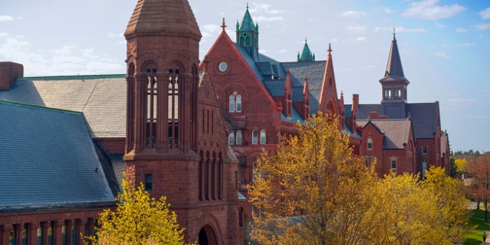 Historic UVM buildings on University Row