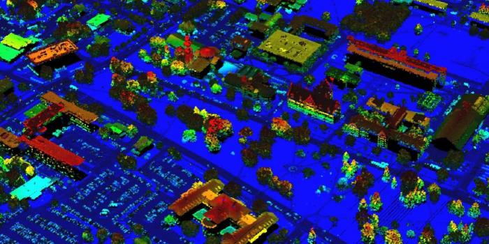 LIDAR map of UVM campus