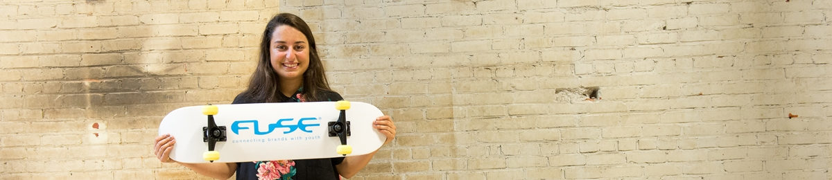 Hailey Ronconi, PCOM Minor, Skates at FUSE Marketing Internship