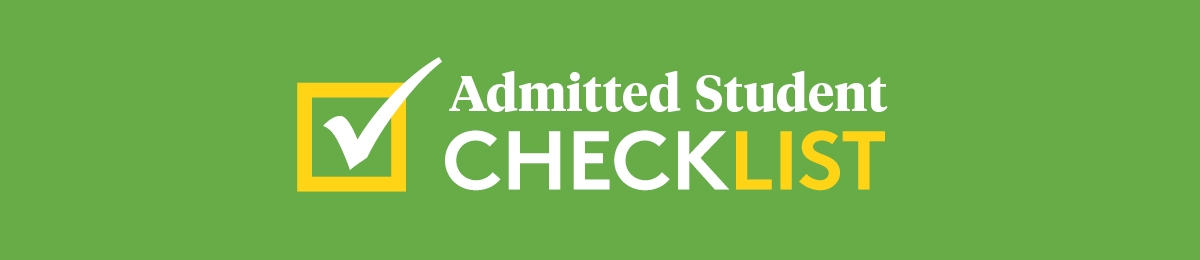 Admitted Students Checklist