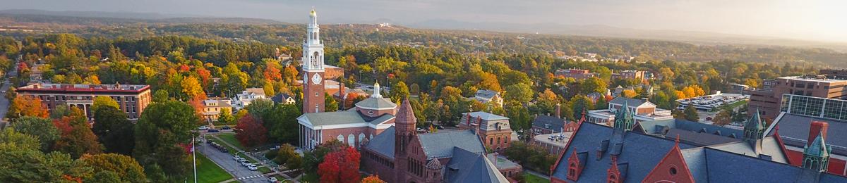Bird's eye view of UVM Campus